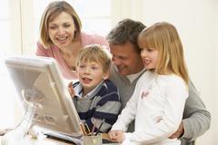 Perhe Ryhmä Tietokoneen Kuvituskuvat