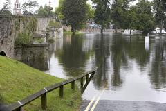 Water Flooding Roads Stock Photos