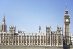 Big Ben And Houses Of Parliament, London, England Stock Photos