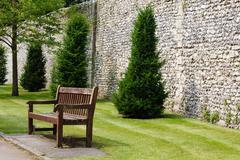 formal garden - stock photo