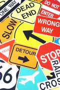 Group Of Road Signs Stock Photos