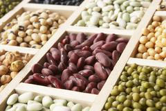 Selection Of Beans Stock Photos