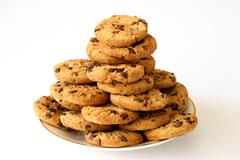 plate of cookies - stock photo