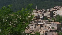 Pan - City of Sisteron, France - full screen Stock Footage