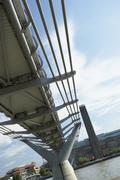 Millennium Footbridge, London, England Stock Photos