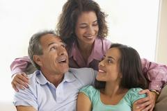 Family Together At Home - stock photo