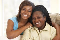 Woman With Her Teenage Daughter Stock Photos