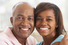 Man With His Teenage Daughter - stock photo