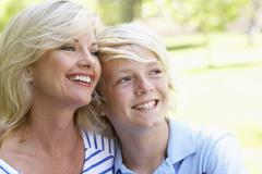 Woman And Her Son - stock photo