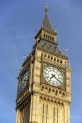 Intricate Clock Face Of Big Ben, London, England - stock photo