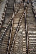 Railway Track Junction Stock Photos