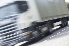 Truck Ajo tiellä Kuvituskuvat