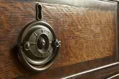 Detail Of Antique Drawers - stock photo