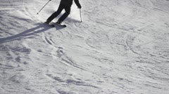 SLOW MOTION: Skier Stock Footage