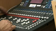 Tv studio video mixer 4 Stock Footage
