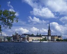 Riddarholmen and gamla stan, stockholm Stock Photos