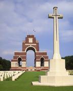 thiepval memorial, somme, picardy, france - stock photo