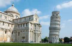 Famous leaning tower of pisa, italy Stock Photos