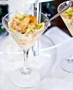 shrimp cocktail in a buffet aperitif - stock photo