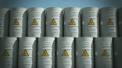 Biohazard barrel Danger disaster garbage sickness pollution environment  - stock footage