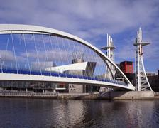 lowry centre, salford quays, manchester, england - stock photo