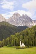 st giovanni, val di funes, dolomites, italy - stock photo