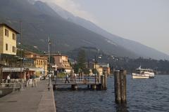 waterfront, malcesine, lake garda, veneto, italy, - stock photo
