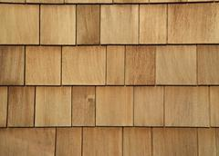 Stock Photo of wooden shingled wall