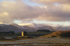 castle stalker, loch linnhe, argyll and bute, scotland - stock photo
