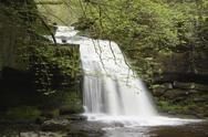 Waterfall, wensleydale, yorkshire dales, england Stock Photos