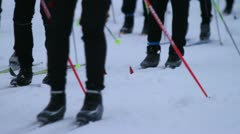 Vasaloppet, cross-country skiing Stock Footage