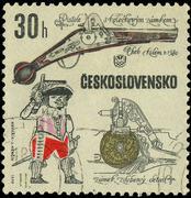 Czechoslovakia - circa 1969: a stamp printed in czechoslovakia shows ancient Stock Photos