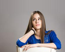 Expressive teen portrait. Stock Photos