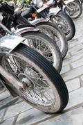Bikes in a row Stock Photos