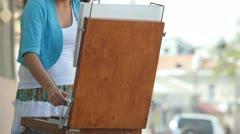 Fine Art Painting Stock Footage