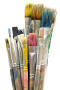 Dirty Paintbrushes Stock Photos