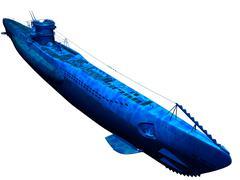 Diesel submarine - stock illustration