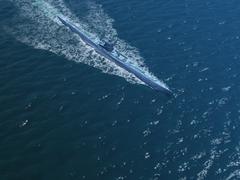 Submarines in ocean Stock Illustration