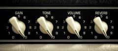 amplifier panel - stock photo
