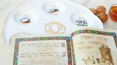 Passover seder haggadah Stock Footage