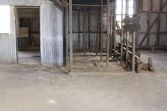 santa laura humberstone saltpetre processing plant, iquique, chile - stock photo