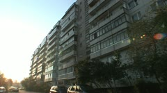 Housing estate in Grodno in Belarus Stock Footage