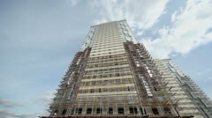 Construction site of high-rise dwelling house Stock Footage
