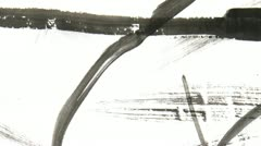 Paint Stroke Film Texture Stock Footage