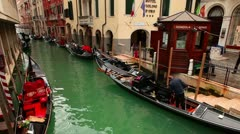 Gondoliers In Venice Stock Footage