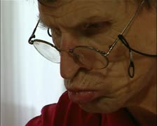 Mentally handicapped artist, Art Brut, outsider artist Joseph Hofer Stock Footage