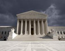 supreme court storm - stock photo