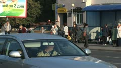Morning traffic on the Belarus city of Grodno Stock Footage