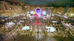 Banquet hall at Korston Hotel during Stillini kids fashion show Stock Footage