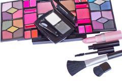 Make up cosmetics set Stock Photos